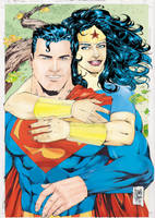 Superman and Wonder Woman by robertarts