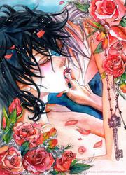 Harry Potter and Draco kissing by asahikawa-arashi