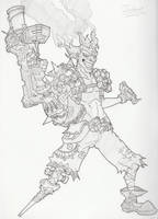 Overwatch Character Sketches: Junkrat by JPHollingsworth