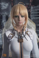 Saber bride cosplay by Vandych100
