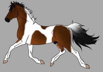 Sooty Bay Tobiano Adopt Open by horsegirl121