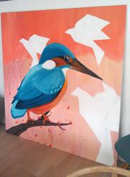 Kingfisher wip by Ronacat