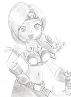 Warrior Girl by GhostHead-Nebula