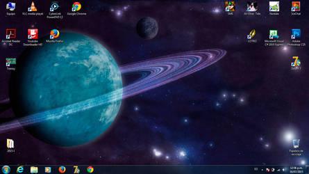 My new desk... On my laptop by GhostHead-Nebula