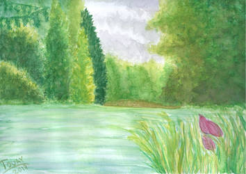 August River - Watercolor by GhostHead-Nebula