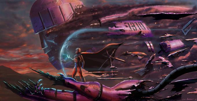 Magneto and Sentinel by LivioRamondelli
