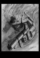 Optimus Prime-smoke, pencil by LivioRamondelli
