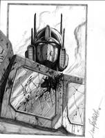 Optimus Prime-bust, pencil by LivioRamondelli