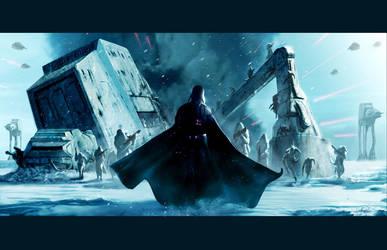 Vader on Hoth by LivioRamondelli