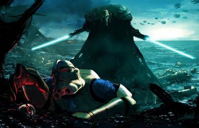 Grievous vs Clonetroopers by LivioRamondelli