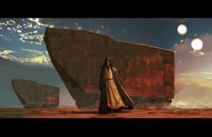 Tatooine at dusk by LivioRamondelli