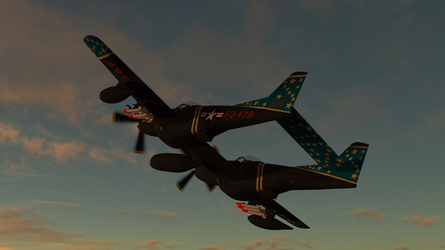Daz Caparros P 82 Twin Mustang Night Prowl 3 by anthsco