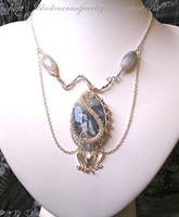 Pendant with Blue-grey Stone by blackcurrantjewelry