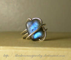 Ring with Blue Fire by blackcurrantjewelry