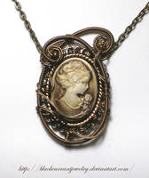 Brown Cameo by blackcurrantjewelry