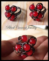 Red Berries Ring by blackcurrantjewelry