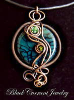 Fire Agate Pendant by blackcurrantjewelry