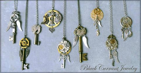 Celestial Keys III by blackcurrantjewelry