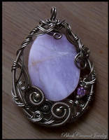 Lavender Agate Pendant by blackcurrantjewelry