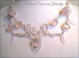 Pink Necklace by blackcurrantjewelry