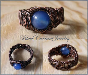 Ring with Blue Stone by blackcurrantjewelry