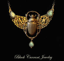Steampunk Scarab by blackcurrantjewelry