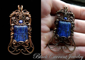 Lapis Lasuli and Copper by blackcurrantjewelry