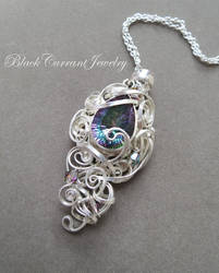 Mystical Topaz with bright sterling silver. by blackcurrantjewelry