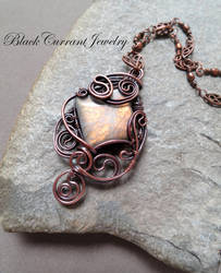Yellow-Orange Labradorite with Copper by blackcurrantjewelry