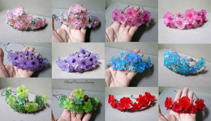 6 Crowns/Tiaras for cosplay by blackcurrantjewelry