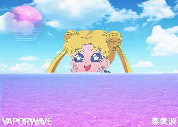 Sailor Moon Vaporwave by Nekoow
