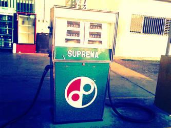 Old Fashioned Gasoline Station by RubiksMaster110