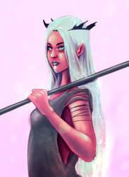 Fighting girl by Vladiftimescu