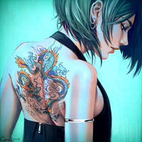 Girl with a Dragon Tattoo by Camille-Marie
