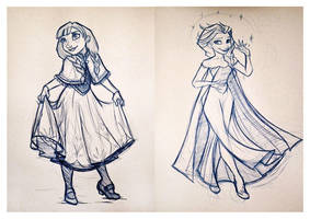 Frozen Sketches by Chansey123