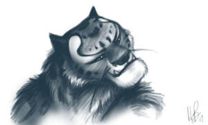 Tai Lung Portrait by mithrilarrow