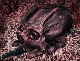 Skull Bunny II by Fleshgoredon