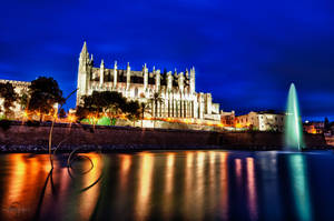Palma Cathedral at Night by Creative--Dragon
