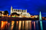 Palma Cathedral at Night by Creative--Dragon
