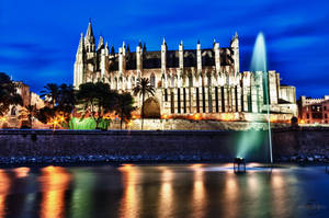 Palma Cathedral at Night 02 by Creative--Dragon
