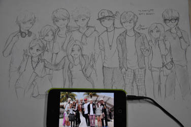 TS family drawing by G-Riluv