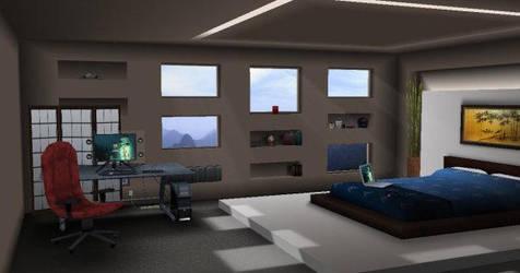Zen Bedroom by nanobot