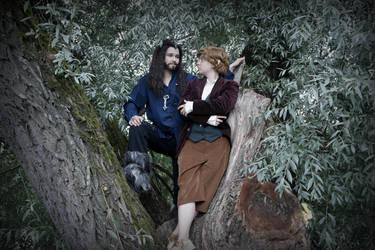 Thorin Oakenshield and Bilbo Baggins by AcornCosplay