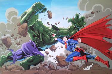 Superman vs Hulk by Spidey0107