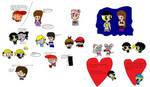Sketchy Dumpy 6(66) Valentines! by anilovespeace