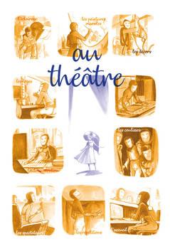 Affiche sur le theme du theatre by Fredgri