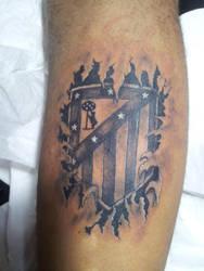 Atletico de Madrid Tatuaje by curi222