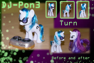 DJ-Pon3 Custom pony by Mazzy-elf
