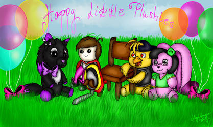 Happy litte fabulous plushies by NigthmareWolf
