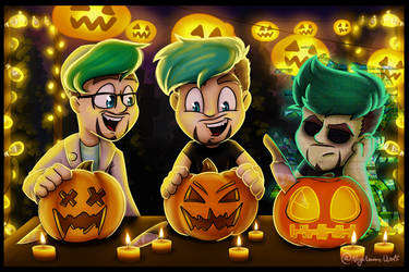 Pumpkin Carving With The Boys by NigthmareWolf
